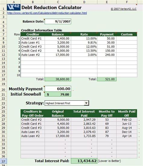 payoff calculator spreadsheet excel spreadsheets group debt budget