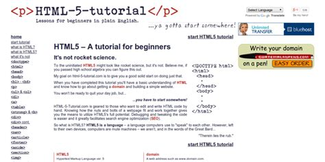 html tutorial help 5 tutorials to help you learn html5 coding css3