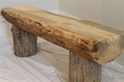 natural pine mississippi  reclaimed log bench diy
