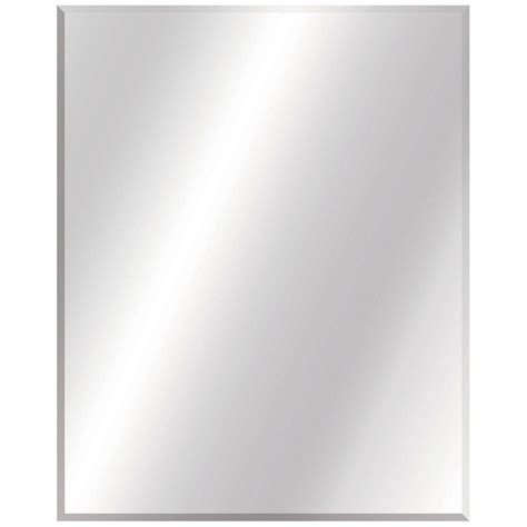 Glacier Bay 24 in. W x 30 in. L Beveled Edge Bath Mirror