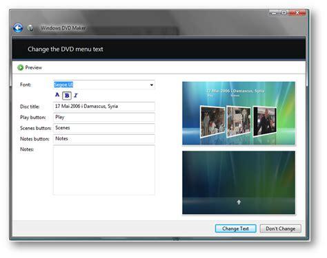 format dvd movie maker menu styles for windows dvd maker