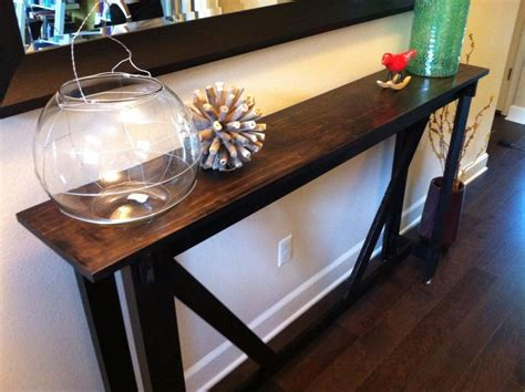 ana white rustic bench turned   entry table diy