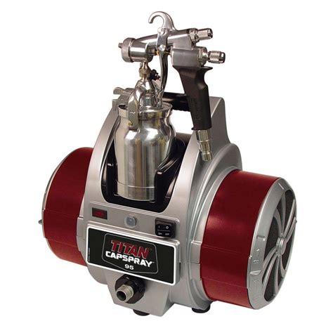 home depot air compressor paint sprayer titan capspray 95 finish hvlp paint sprayer 0524032