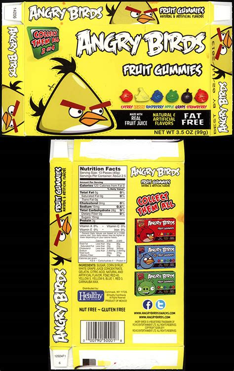 healthy food brands angry birds fruit gummies collectingcandy
