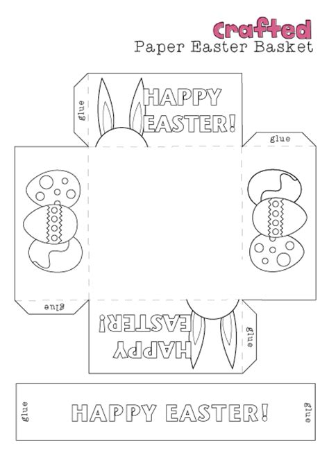 free printable easter baskets templates easter craft printable easter basket crafted