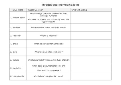 themes book skellig skellig english l3 to l5 by matt grant uk teaching