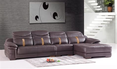 l shaped sofa leather luxurious living room interior design with brown