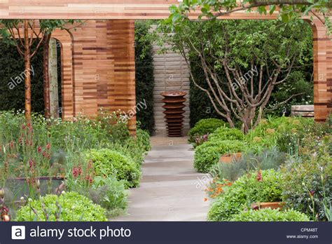 Contemporary Garden Decor Contemporary Garden Design At Rhs Chelsea Flower Show 2012 Homebase Stock Photo Royalty Free
