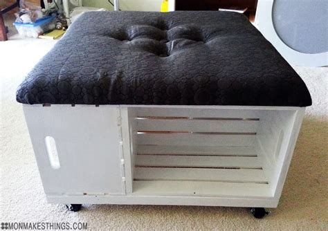 Mon Makes Things Storage Ottoman Diy Build Storage Ottoman