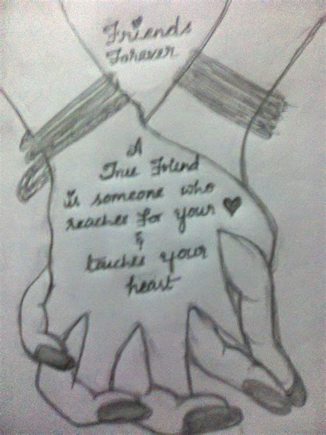 best drawing friendship drawings in pencil with quotes drawing of sketch
