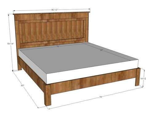 King Bed Frame Plans White Build A King Size Fancy Farmhouse Bed Free And Easy Diy Project And Furniture