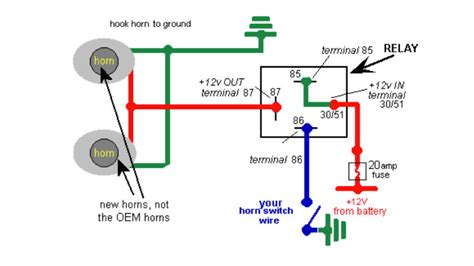 wiring diagram car horn wiring diagram automotive horn
