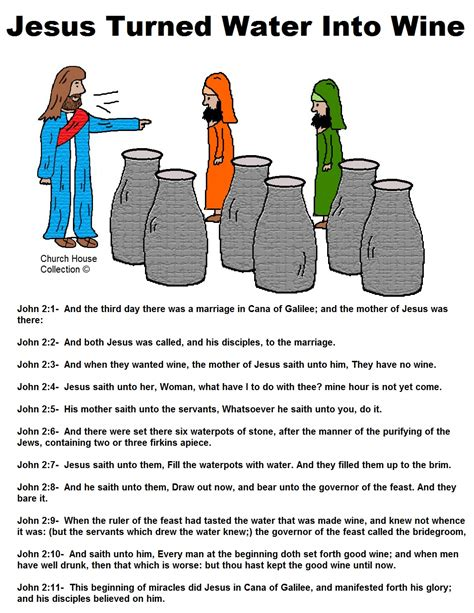 Wedding At Cana Preschool Lesson by Jesus Turns Water Into Wine Sunday School Lesson