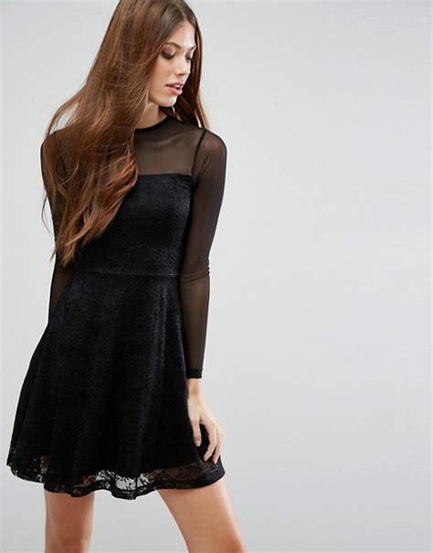 top lace asos asos mesh top lace skater mini dress