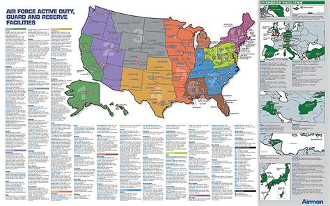 map usaf bases list of united states air bases the wiki