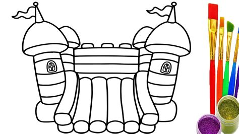 bouncy house coloring pages how to draw playground for childrens coloring pages