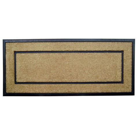 Doormat Frame creative accents dirtbuster single picture frame black 30 in x 48 in coir with rubber border