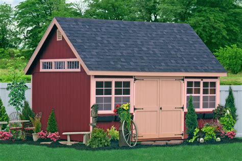 Wooden Sheds Garages by 12x16 Garden Wooden Shed From Pa Traditional Garage