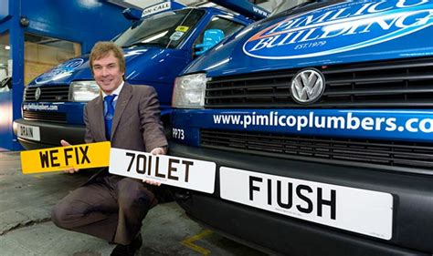 Plumber Number Corporate Identity Number Plates Pimlico Plumbers