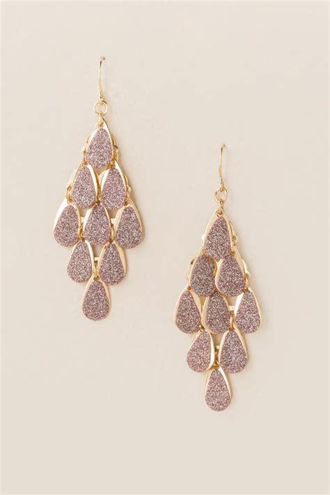 hazel glitter chandelier earring s