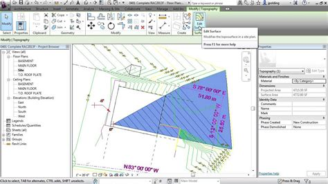 tutorial revit architecture revit architecture 2013 tutorial create toposurface