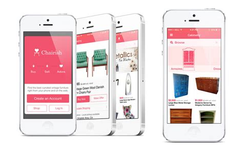 furniture design app chairish launches a new app that makes finding and selling pre loved furniture even easier