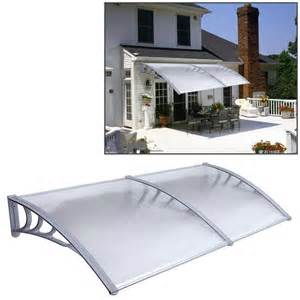 diy outdoor awning 1mx2m diy outdoor polycarbonate front door window awning patio cover canopy ebay