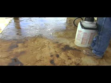 How to Apply Acid Stain and Concrete Overlay: Part Two