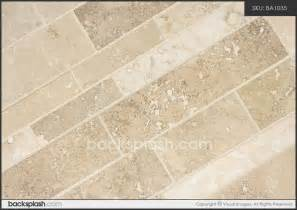 travertine subway mosaic backsplash tile