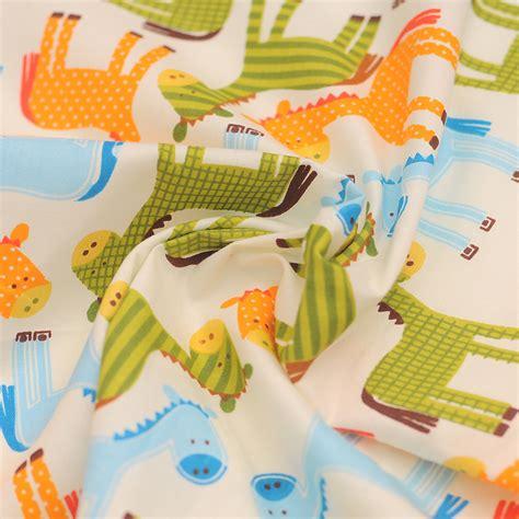 Bedong Bayi Motif Rainbow Pelangi count yang tinggi katun pelangi kuda kain tirai tempat tidur bayi kartun 100 kain katun kain