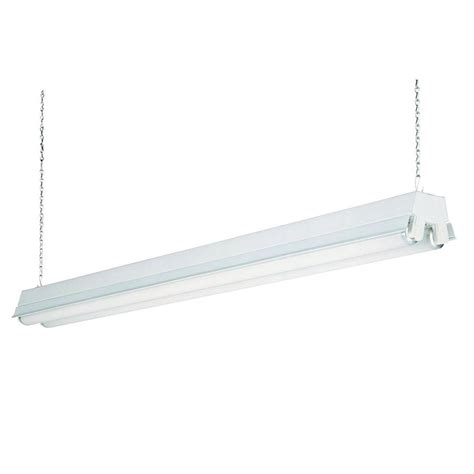 home depot shop lights lithonia lighting 2 light white t12 fluorescent shop light
