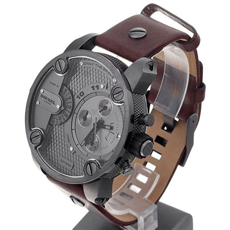 Diesel Brave Date Leather D 4 2cm diesel dz7258 brown leather only the brave chronograph
