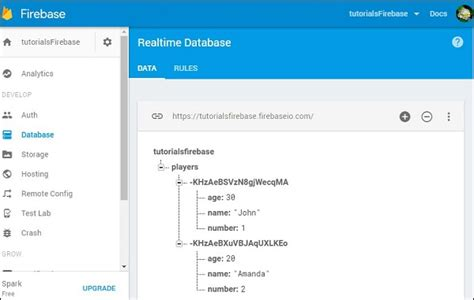 firebase data tutorial firebase read data