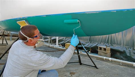 how to spray paint a fiberglass boat mermaid marine service inc put your boat in my hands
