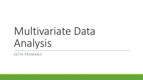 Multivariate Data Analysis Fhair multivariate data analysis a global perspective pdf