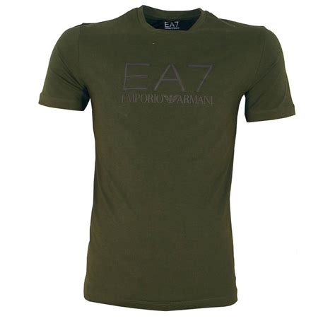 Kaosbajut Shirt Armani 2 emporio armani ea7 green crewneck logo t shirt t shirts from designerwear2u uk