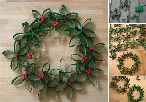 diy christmas wreath using toilet paper rolls find fun