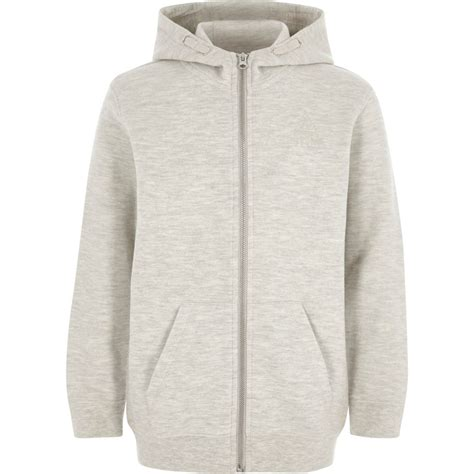 Jaket Hoody Pique boys grey zip up pique hoodie hoodies sweatshirts boys