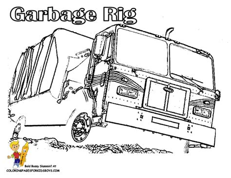 coloring page of trash truck grimy garbage truck coloring page free construction