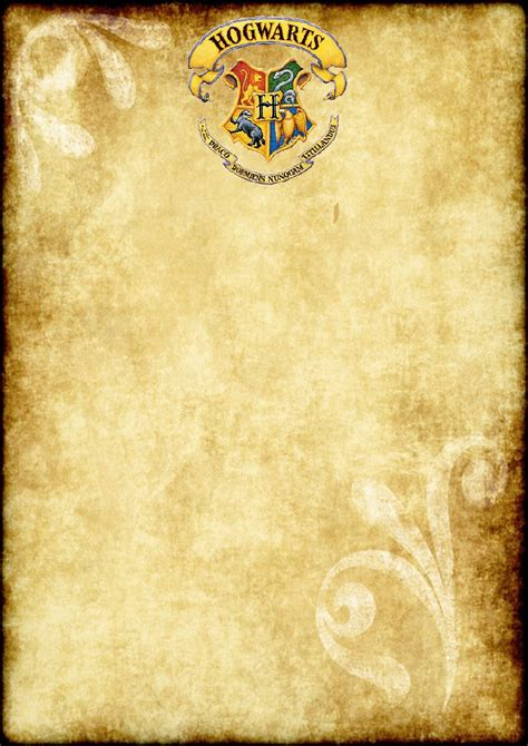 Harry Potter Place Cards Template by Free Printable Harry Potter Blank Parchment A4 Size