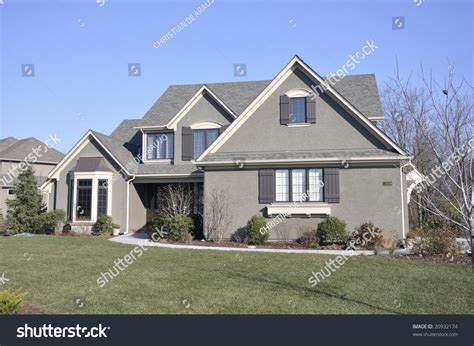 neat average luxury suburban family house living in