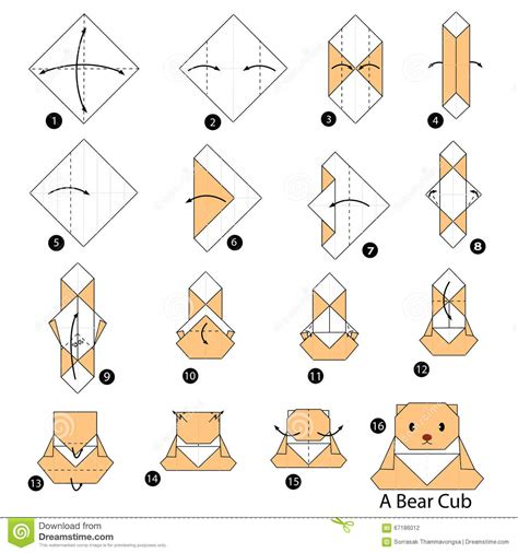 How To Make An Origami L - step by step how to make origami a cub
