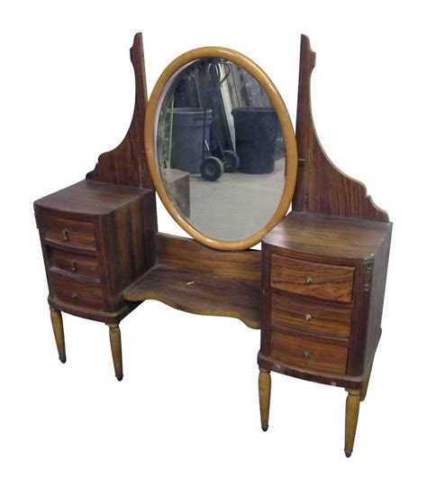 oval bedroom furniture vanity with oval mirror olde good things