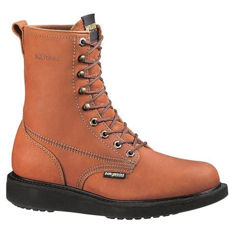 wolverine durashock boots s wolverine 174 8 quot steel toe electrical hazard durashocks