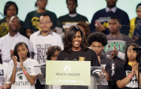 michelle obama in detroit first lady speaks to detroit students about higher