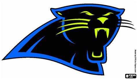 what are the colors of the carolina panthers free carolina panther coloring pages