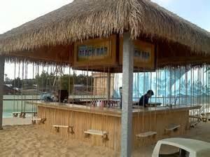 Backyard Tiki Hut Beach Bar With Swings Beach Bar Pinterest Beach Bars