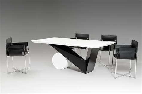 modern white dining table bauhaus modern black and white dining table