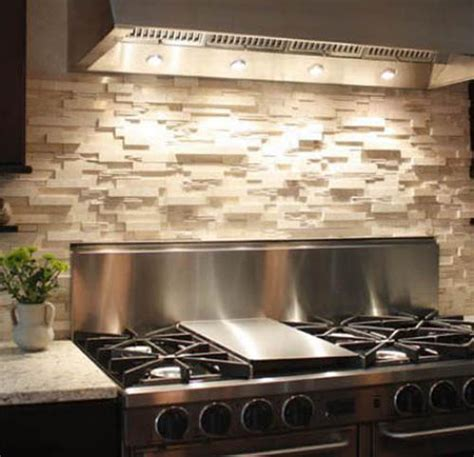 Kitchen Stone Backsplash by Stone Backsplash For Kitchen Make Statement On The Back