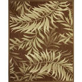 Indoor Outdoor Rugs 8x10 Shop Palm Leaf Rectangular Indoor And Outdoor Woven Area Rug Common 8 X 10 Actual 94 In W X